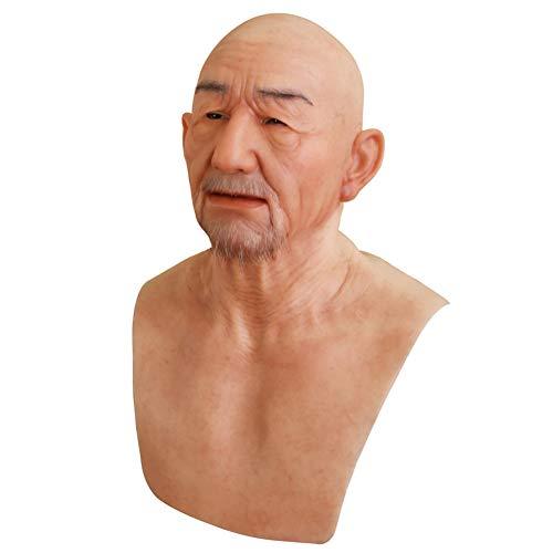 Yuewen - Máscara William de hombre mayor, hecha a...