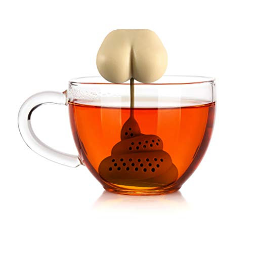 Colador de filtro de té con forma de caca,...