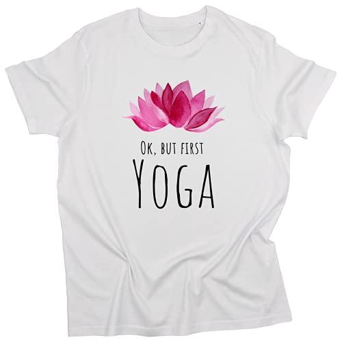 Camiseta Namasté/Flor de Loto Rosado, Algodón...