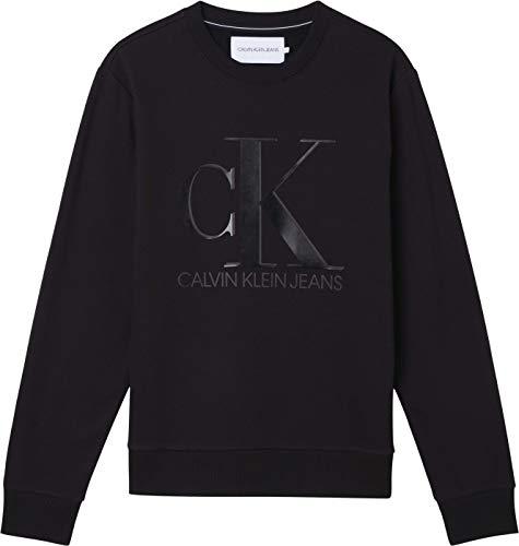 Calvin Klein Jeans Leather Monogram Crew Neck...
