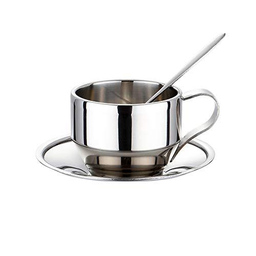 drizzle Juego de tazas de café de acero...