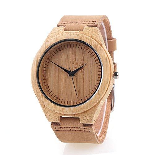 Reloj de Madera de Bambú para Mujer, Yowao Cuarzo...