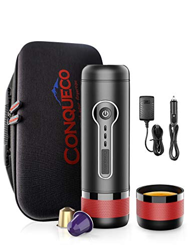 CONQUECO Cafetera Nespresso portátil, Máquina de...