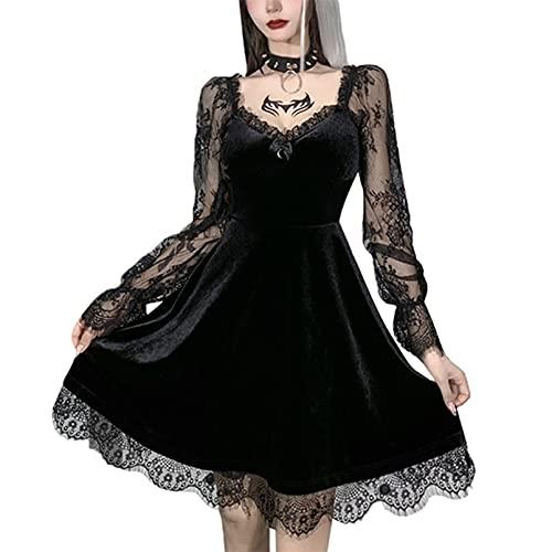 Vestidos góticos vintage punk en capas con...