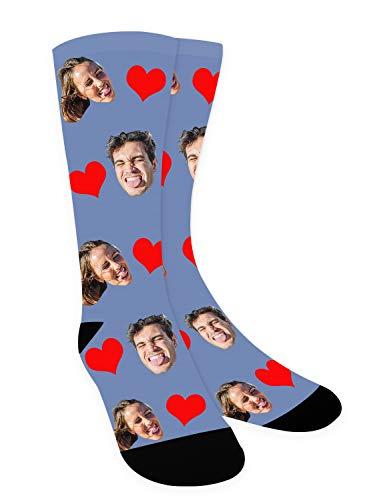 Zhovee Calcetines novedosos, calcetines con foto...