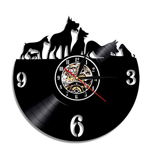 LIMN Reloj de Pared 12 Pulgadas, Reloj de Vinilo...