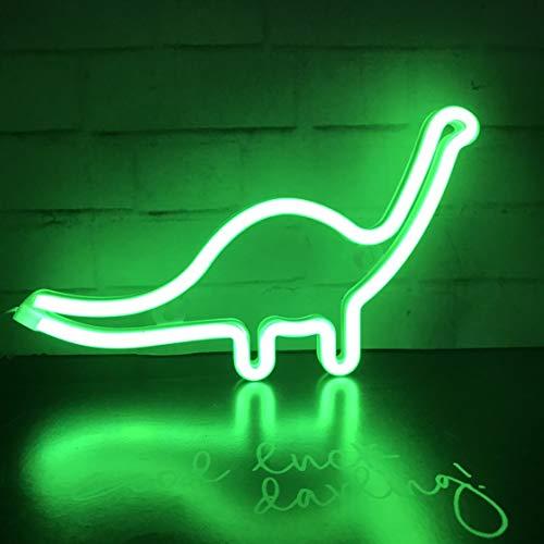 Señal de luz de neón con dinosaurio para...