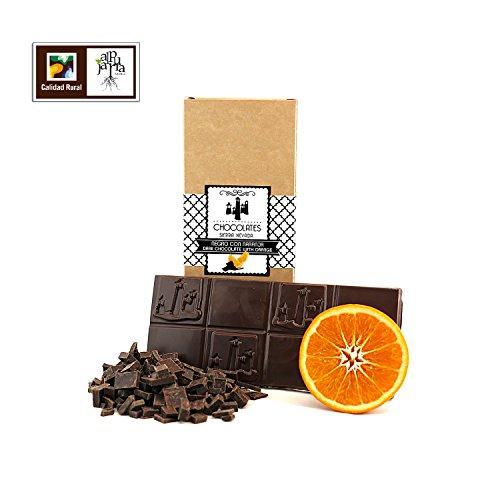 Chocolate negro artesano con naranja