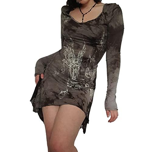 Siyova Vestido de mujer sexy elegante estampado...