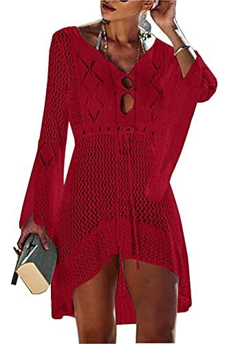 Jinsha Vestido de Playa - Mujer Pareos y Camisola...
