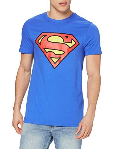 DC Comics Superman Logo Camiseta, Azul Royal, XXL...