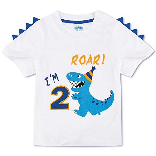 Dinosaurio Camiseta de Cumpleaños - 2do...