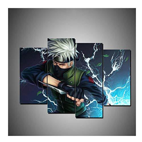 Sin marco 4 piezas Naruto Wall Art Prints Modular...