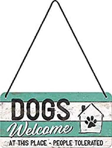 Nostalgic-Art Cartel Colgante Retro Dogs Welcome...