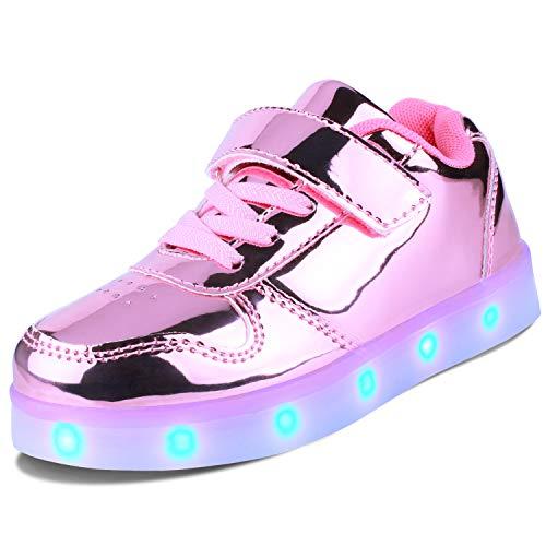 Kealux Zapatos LED para niñas, niños, jóvenes,...