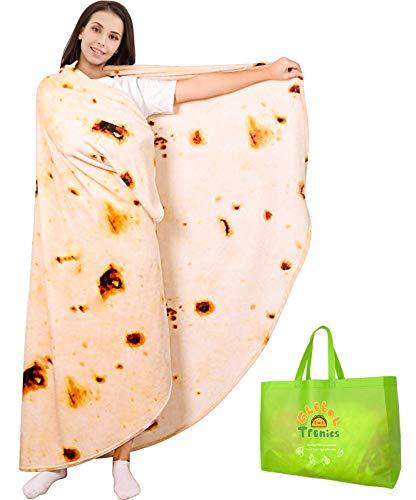 Manta Burrito Tortilla 150cm Doble Cara, Redonda...