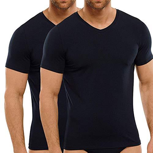 Camiseta Hombre de bambú - Cuello en V - Camiseta...