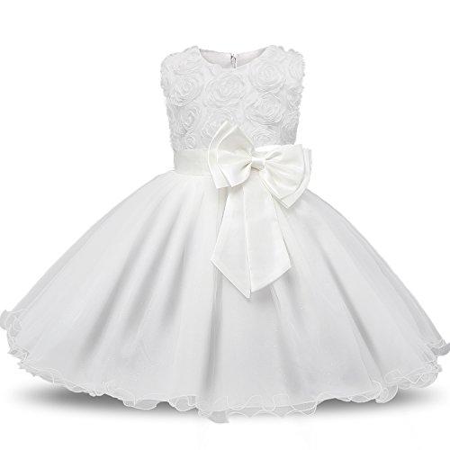 NNJXD Vestido de Fiesta de Princesa con Encaje de...
