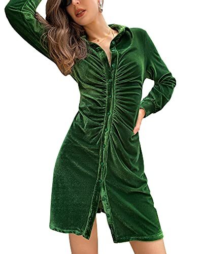 CALLA DREAM Vestido de terciopelo para mujer,...