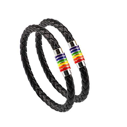 PHOGARY Brazalete De Orgullo Gay Pulsera De Arco...