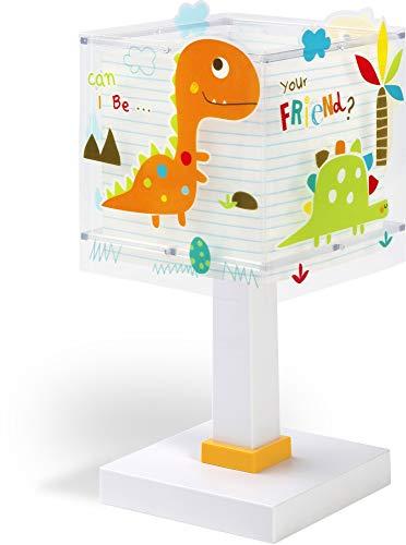 Dalber Lámpara de Mesilla Infantil Dinosaurios...