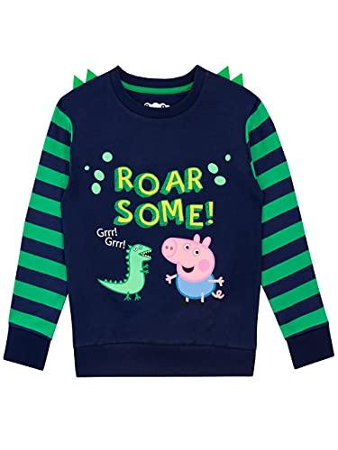 Peppa Pig Sudadera para niños George Pig Azul 2-3...