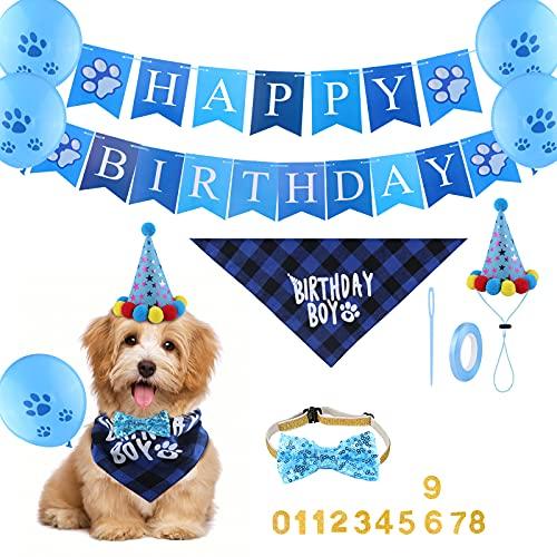 SAVITA Accesorios Cumpleaños para Perros...
