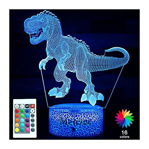 Menzee Luz nocturna de dinosaurio para niños,...