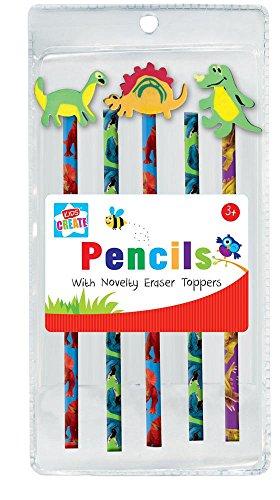 Paquete de 6 lápices con 3 gomas de borrar en...