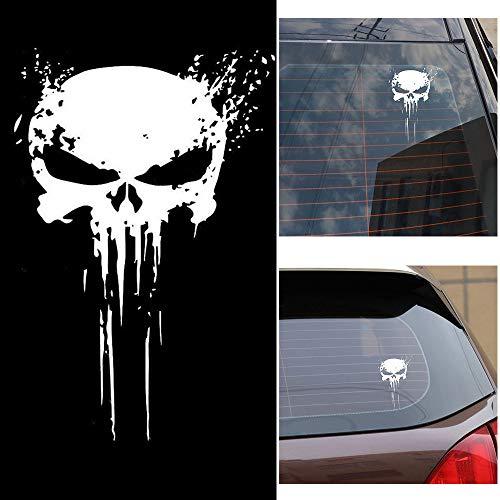 Carrfan Punisher Skull Blood Vinyl Car Stickers...