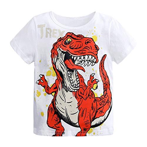 Camiseta Estampada Dinosaurio para bebé niños,...