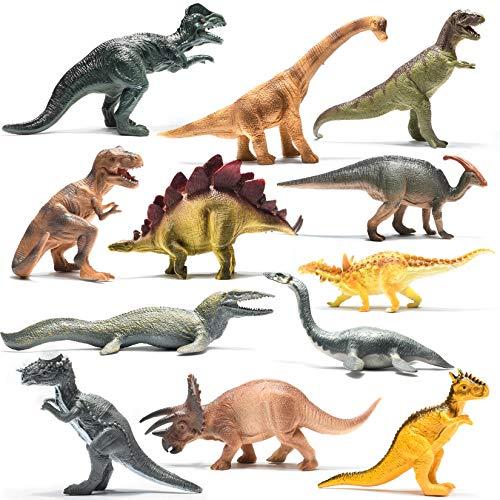 PREXTEX Pack de Dinosaurios de 25,4 cm de Aspecto...