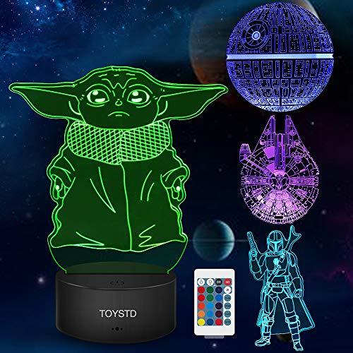 Star Wars 3D Luz de noche, Lámpara de ilusión...
