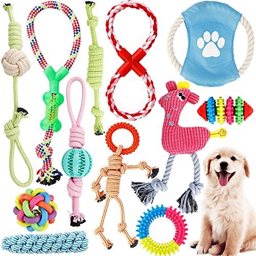 Juego de Juguetes Para Perros,12 Piezas Cuerda de...