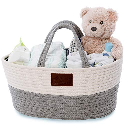 Organizador de pañales para bebé, cesta de...