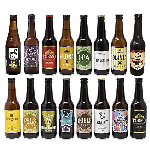 Cervezas artesanas nacionales. 16 botellas x 330ml...