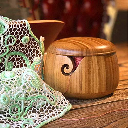 Holz sammlung Cuenco de Bambú para Lana con Tapa...