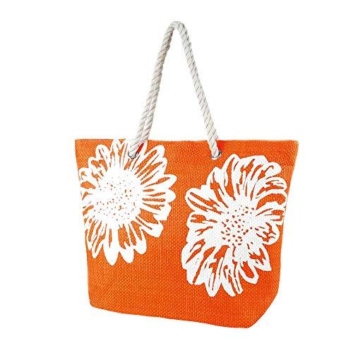 Bolsa de verano/de playa con estampado de flores...