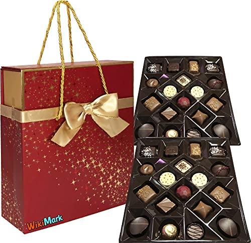Caja de Bombones de Chocolate Belga Surtidos - En...