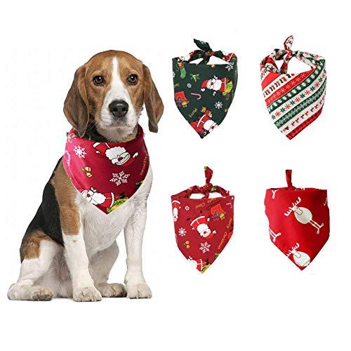 4 piezas,Pañuelo para Perros Lavable,Pañuelos de...