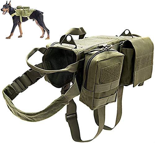 DHGTEP Arnés Militar Táctico para Perros K9,...