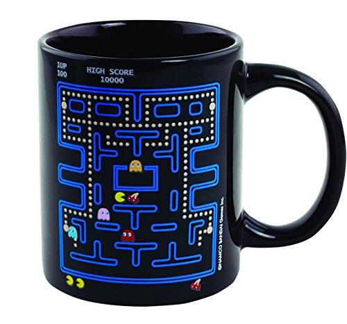 Pac-Man calor cambio taza, cerámica, multicolor,...