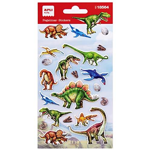 APLI Kids 18564-Pegatinas de Dinosaurios. Incluye...