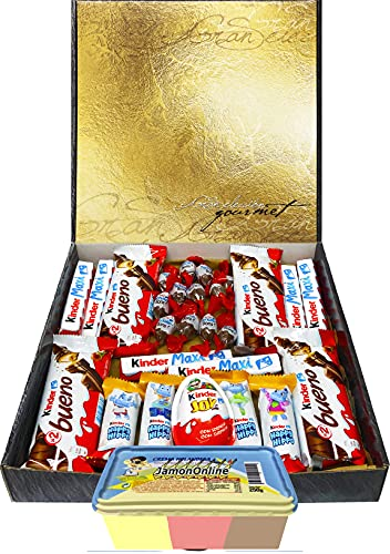 Cesta Regalo Kinder Chocolate y Crema 3 Sabores,...