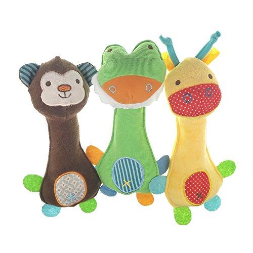 MUROAD 3 Piezas Juguetes con Sonido para Perros,...