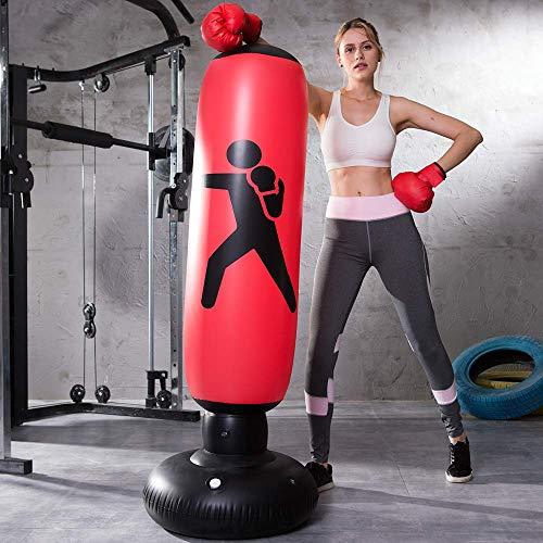 LONEEDY - Saco de boxeo hinchable de pie para...