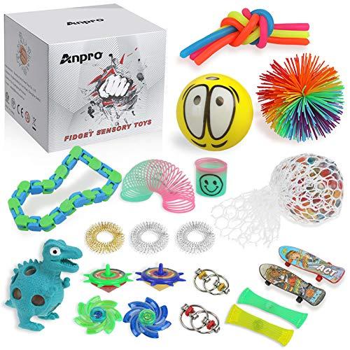 Anpro 24 Piezas Fidget Toys, Pack Fidget Toys con...