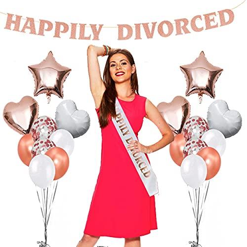 Decoraciones de fiesta de divorcio para mujer con...