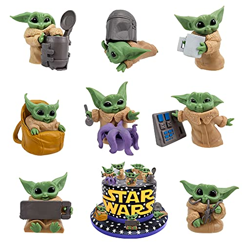 BESTZY Baby Yoda Cake Topper Star Wars Figuras...