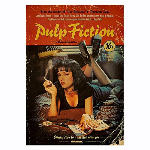 mocarrie Película Pulpa ficción Cartel Retro...
